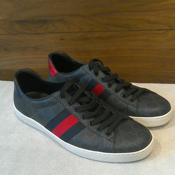 8e1729c12c3 New Gucci New Ace Webbed Low Top Sneaker. Listing Price   500